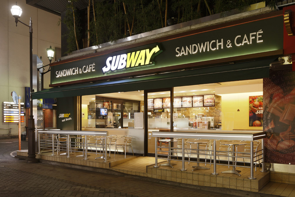 Image result for subway (fast food) sandwich shop in japan