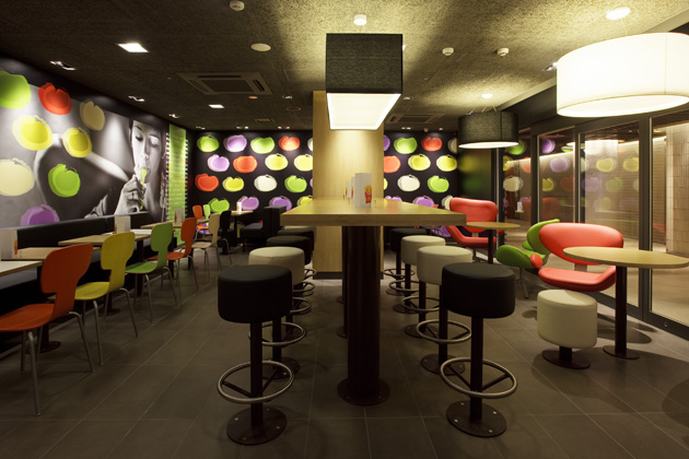 Mcdonalds Interior Design mcdonald's new generation design stores | projects | tanseisha co